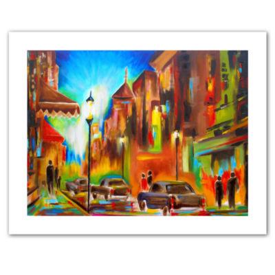 Brushstone Twilight in Treviso Canvas Wall Art