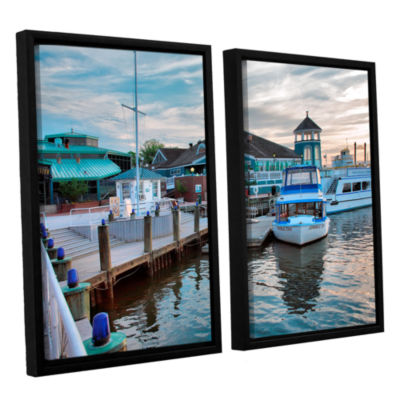 Brushstone Alexandria Waterfront 2-pc. Floater Framed Canvas Wall Art