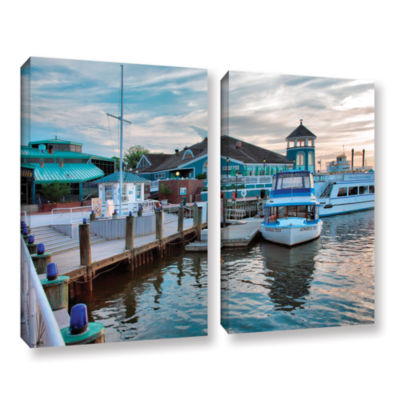 Brushstone Alexandria Waterfront 2-pc. Gallery Wrapped Canvas Wall Art