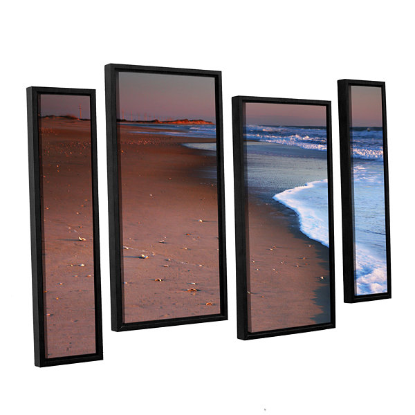Brushstone Alone not Lonely 4-pc. Floater Framed Staggered Canvas Wall Art