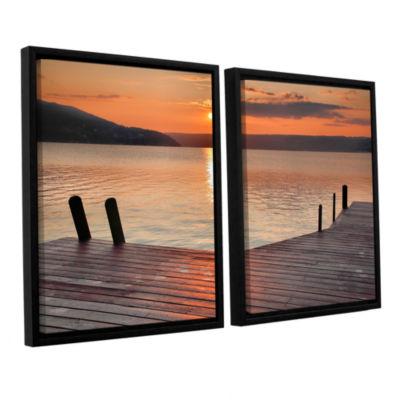Brushstone Another Kekua Sunrise 2-pc. Floater Framed Canvas Wall Art