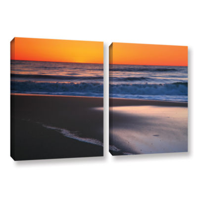 Brushstone As Dawn Approaches 2-pc. Gallery Wrapped Canvas Wall Art