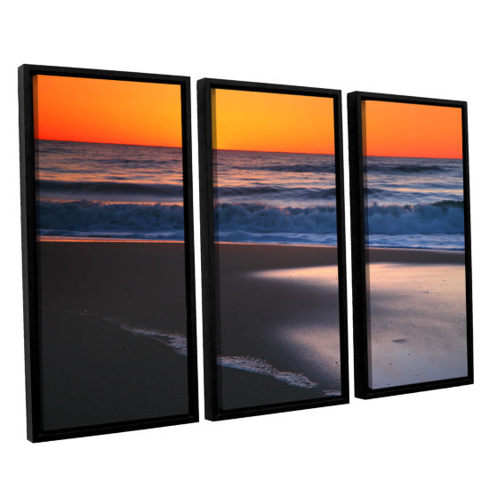 Brushstone As Dawn Approaches 3-pc. Floater FramedCanvas Wall Art