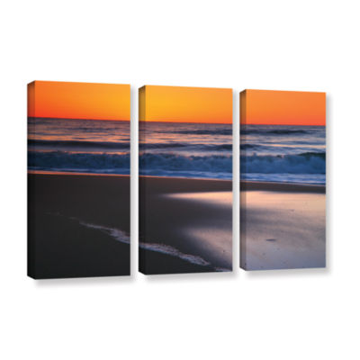 Brushstone As Dawn Approaches 3-pc. Gallery Wrapped Canvas Wall Art