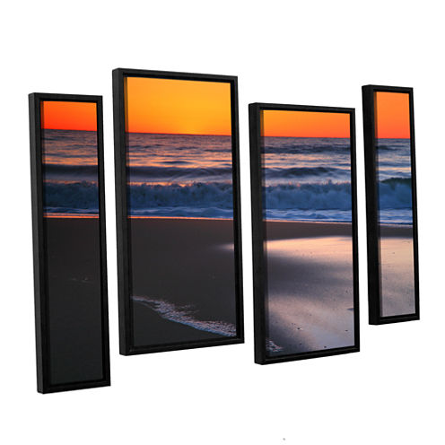 Brushstone As Dawn Approaches 4-pc. Floater Framed Staggered Canvas Wall Art