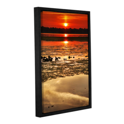 Brushstone Breaking Dawn Gallery Wrapped Floater-Framed Canvas Wall Art