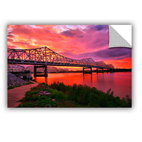 Brushstone Bridges At Sunrise Removable Wall Decal