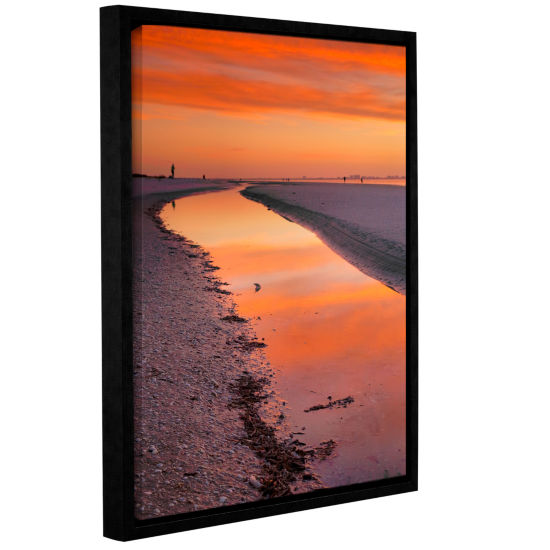 Brushstone Captiva Sunset Gallery Wrapped Floater-Framed Canvas Wall Art