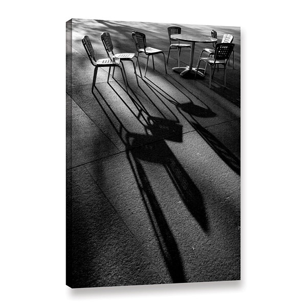 Brushstone Chairs and Shadows Gallery Wrapped Canvas Wall Art