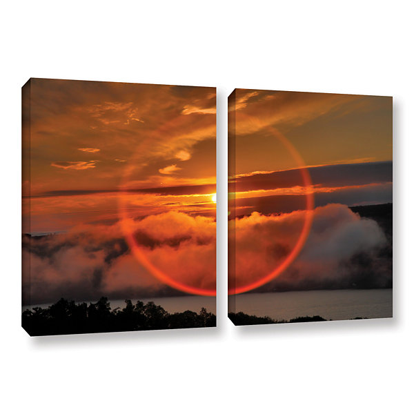 Brushstone Circle Around Sun 2-pc. Gallery Wrapped Canvas Wall Art