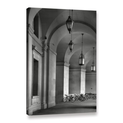 Brushstone Colonnade and Bicycles Gallery WrappedCanvas Wall Art