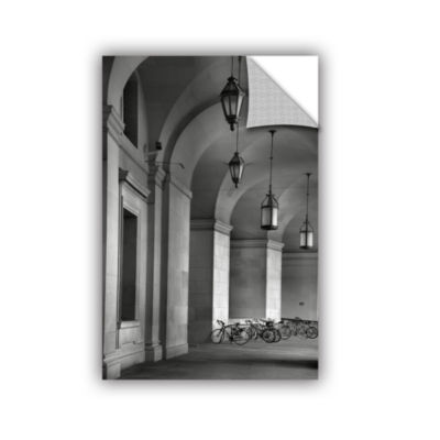 Brushstone Colonnade and Bicycles Removable Wall Decal