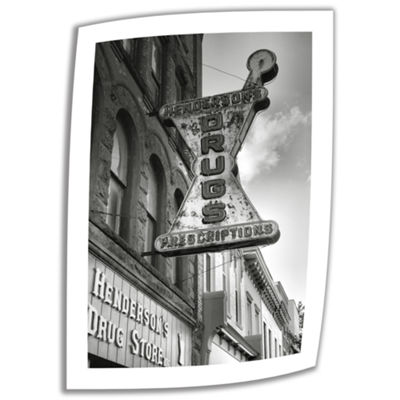 Brushstone Drug Store Sign Canvas Poster Wall Art