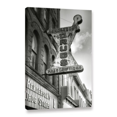 Brushstone Drug Store Sign Gallery Wrapped CanvasWall Art