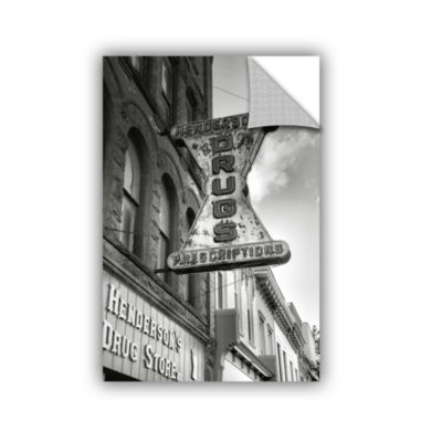 Brushstone Drug Store Sign Removable Wall Decal