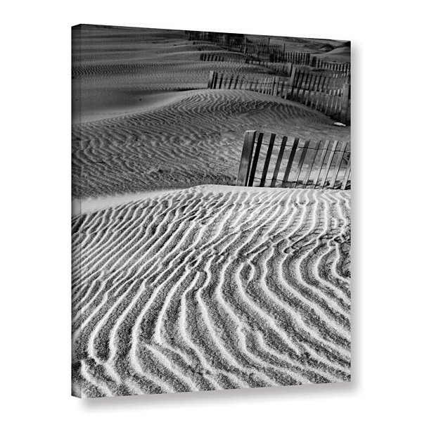 Brushstone Dune Patterns Gallery Wrapped Canvas Wall Art