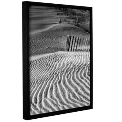 Brushstone Dune Patterns Gallery Wrapped Floater-Framed Canvas Wall Art