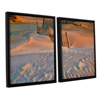 Brushstone Dune Patterns II 2-pc. Floater Framed Canvas Wall Art