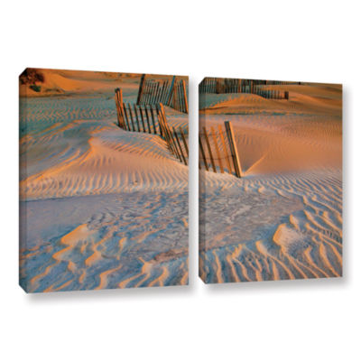 Brushstone Dune Patterns II 2-pc. Gallery WrappedCanvas Wall Art