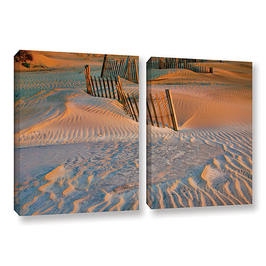 Brushstone Dune Patterns II 2-pc. Gallery WrappedCanvas Wall Art