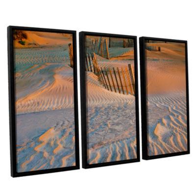 Brushstone Dune Patterns II 3-pc. Floater Framed Canvas Wall Art