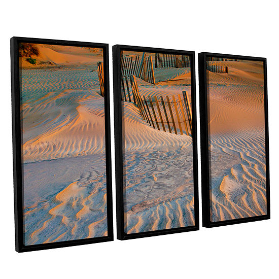 Brushstone Dune Patterns II 3-pc. Floater Framed Canvas Wall Art