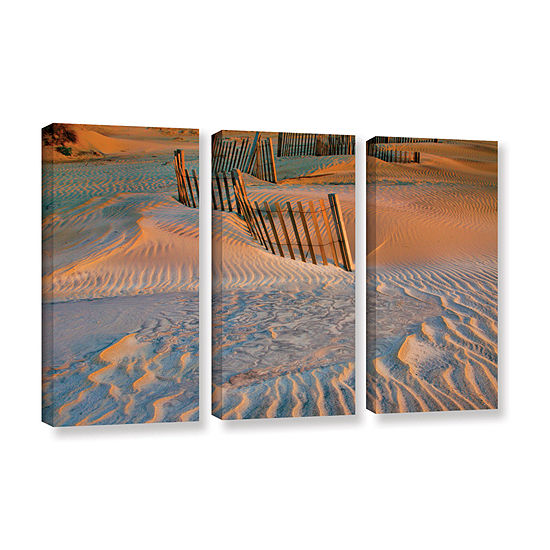 Brushstone Dune Patterns Ii 3 Pc Gallery Wrappedcanvas Wall Art