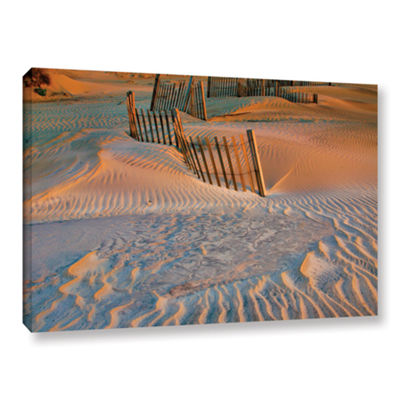 Brushstone Dune Patterns II Gallery Wrapped CanvasWall Art