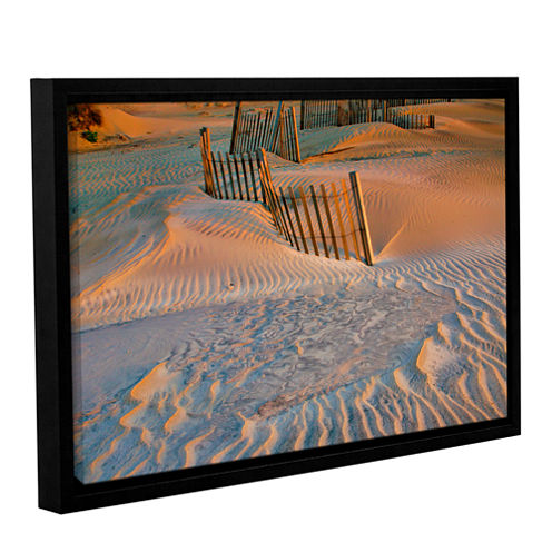 Brushstone Dune Patterns II Gallery Wrapped Floater-Framed Canvas Wall Art
