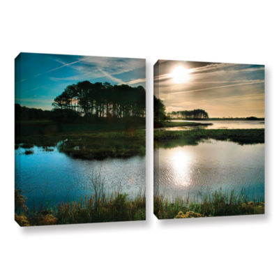 Brushstone Early Morning on Beach Drive I 2-pc. Gallery Wrapped Canvas Wall Art