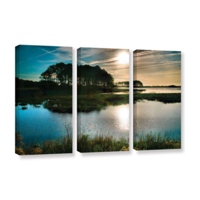 Brushstone Early Morning on Beach Drive I 3-pc. Gallery Wrapped Canvas Wall Art