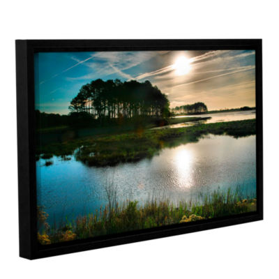 Brushstone Early Morning on Beach Drive I GalleryWrapped Floater-Framed Canvas Wall Art