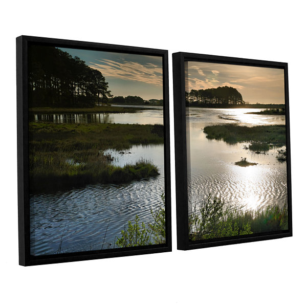 Brushstone Early Morning on Beach Drive II 2-pc. Floater Framed Canvas Wall Art