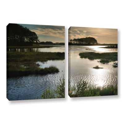 Brushstone Early Morning on Beach Drive II 2-pc. Gallery Wrapped Canvas Wall Art