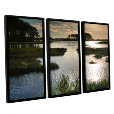 Brushstone Early Morning on Beach Drive II 3-pc. Floater Framed Canvas Wall Art