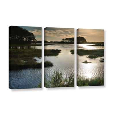 Brushstone Early Morning on Beach Drive II 3-pc. Gallery Wrapped Canvas Wall Art