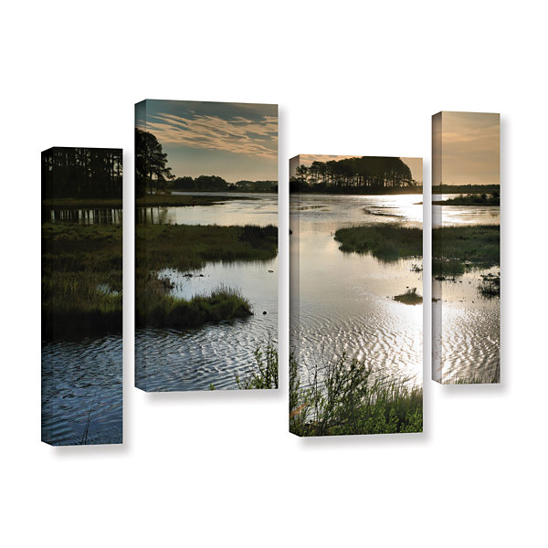 Brushstone Early Morning on Beach Drive II 4-pc. Gallery Wrapped Staggered Canvas Wall Art