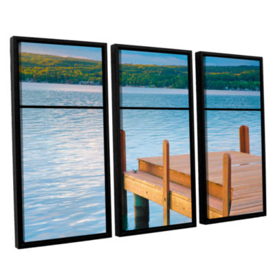 Brushstone End of Summer II 3-pc. Floater Framed Canvas Wall Art