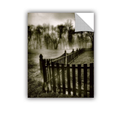 Brushstone Fence in the Fog Removable Wall Decal
