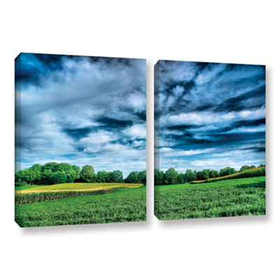 Brushstone Field of Dreams 2-pc. Gallery Wrapped Canvas Wall Art
