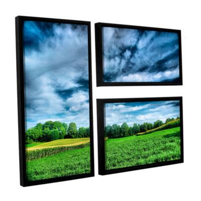 Brushstone Field of Dreams 3-pc. Flag Floater Framed Canvas Wall Art
