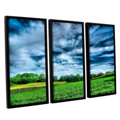 Brushstone Field of Dreams 3-pc. Floater Framed Canvas Wall Art