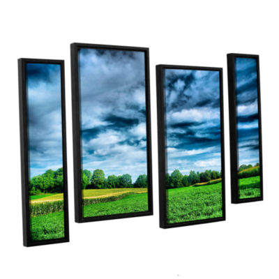 Brushstone Field of Dreams 4-pc. Floater Framed Staggered Canvas Wall Art