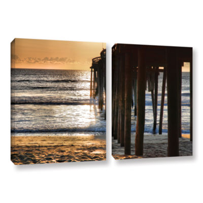 Brushstone Fishing Pier 2-pc. Gallery Wrapped Canvas Wall Art