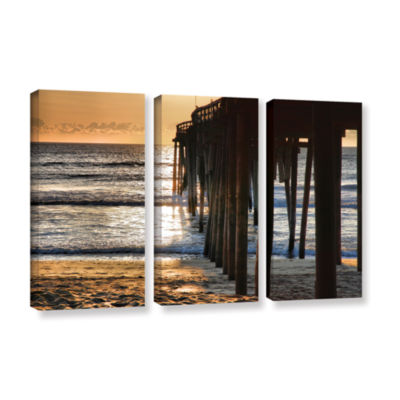 Brushstone Fishing Pier 3-pc. Gallery Wrapped Canvas Wall Art