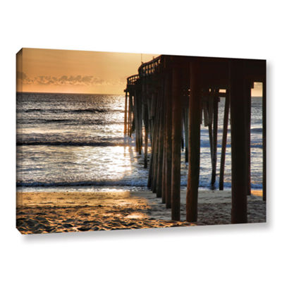 Brushstone Fishing Pier Gallery Wrapped Canvas Wall Art