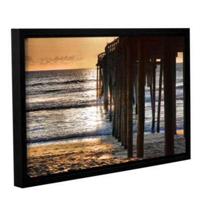 Brushstone Fishing Pier Gallery Wrapped Floater-Framed Canvas Wall Art
