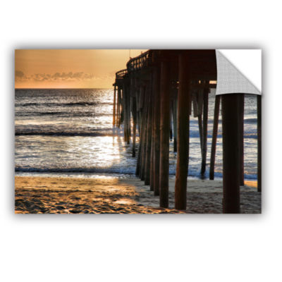 Brushstone Fishing Pier Removable Wall Decal