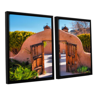 Brushstone Gate to Chimayo 2-pc. Floater Framed Canvas Wall Art