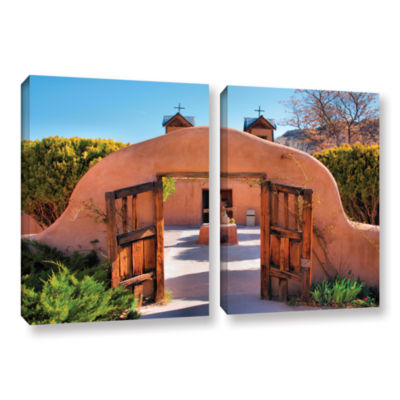Brushstone Gate to Chimayo 2-pc. Gallery Wrapped Canvas Wall Art